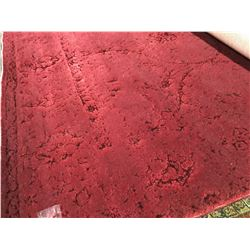 PATCHWORK CARPET - WOOL  8'X5' AREA RUG RED (RETAIL VALUE $2,400.00)