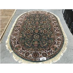 "FLORAL ANTIQUE FIN - WOOL 6'1""X4'1"" PERSIAN AREA RUG (RETAIL VALUE $2,700.00)"