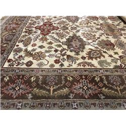 KASHAN-WOOL  7'X5' PERSIAN AREA RUG (RETAIL VALUE $3,900.00)