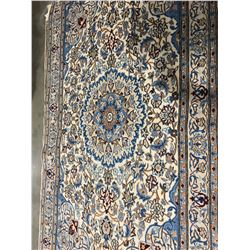 "MAIN - WOOL & SILK 6'6""X3'8"" PERSIAN AREA RUG (RETAIL VALUE $5,400.00)"