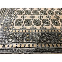 "BOKHARA-WOOL 5'9""X4'1"" PERSIAN AREA RUG (RETAIL VALUE $1,780.00)"