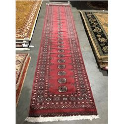 "BOKHARA-WOOL 12'2""X2'7"" PERSIAN AREA RUG RUNNER (RETAIL VALUE $3,600.00)"