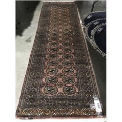 "BOKHARA-WOOL 8'2""X2'6"" PERSIAN AREA RUG RUNNER (RETAIL VALUE $1,390.00)"
