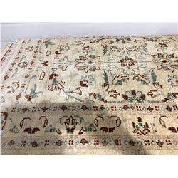 "SARUGH ANTIQUE FIN-WOOL 4'X2'7"" PERSIAN AREA RUG RUNNER (RETAIL VALUE $1,270.00)"