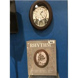 RHYTHM MUSICAL WALL CLOCK