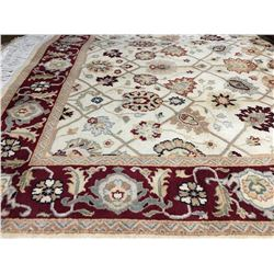 "TABRIZ-WOOL 6'3""X4' PERSIAN AREA RUG (RETAIL VALUE $3,200.00)"