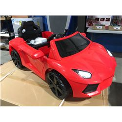 CHILDS BATTERY POWERED RED FERRARI RIDE IN TOY CAR WITH REMOTE