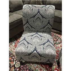 CONTEMPORARY ACCENT CHAIR WHITE & GREY