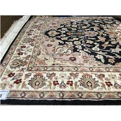 "FLORAL-WOOL 6'4""X4'1"" PERSIAN AREA RUG (RETAIL VALUE $1,800.00)"