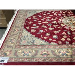 "FLORAL -WOOL 6'1""X4'1"" PERSIAN AREA RUG (RETAIL VALUE $1,870.00)"