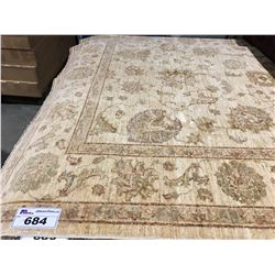 "SARUGH ANTIQUE FIN -WOOL 6'5""X5' PERSIAN AREA RUG (RETAIL VALUE $3,600.00)"