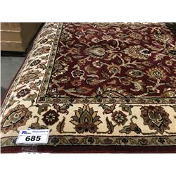 FLORAL ANTIQUE FIN -WOOL 6'X4' PERSIAN AREA RUG (RETAIL VALUE $2,600.00)