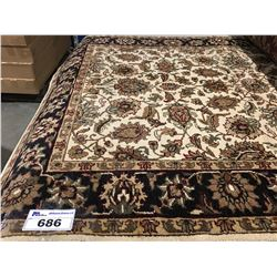 "FLORAL ANTIQUE FIN -WOOL 6'2""X4'2"" PERSIAN AREA RUG (RETAIL VALUE $2,800.00)"