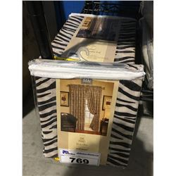 PAIR OF ZEBRA WIDE PANEL CURTAINS