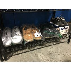 SHELF LOT OF 4 PAIRS OF ASSORTED SHOES