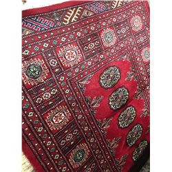 "BAKAHARA- WOOL 5'X3'1"" PERSIAN AREA RUG (RETAIL VALUE $1,160.00)"