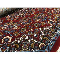 "MACHINE MADE-WOOL 6'7""X6'7"" OCTAGON  AREA RUG (RETAIL VALUE $600.00)"