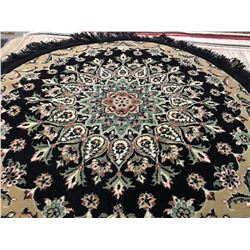 "KASHAN DESIGN-WOOL 3'3""'X3'3"" ROUND  AREA RUG (RETAIL VALUE $240.00)"