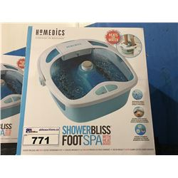 HOMEDICS SHOWER BLISS FOOT SPA WITH HEAT BOOST