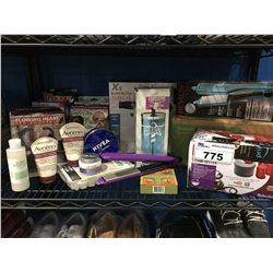 SHELF LOT OF ASSORTED HEALTH & BEAUTY PRODUCTS
