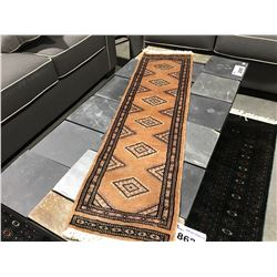 BOKHARA-WOOL 4'X1' SMALL PERSIAN RUG (RETAIL VALUE $230.00)