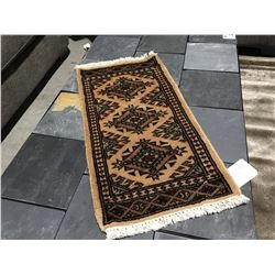 BOKHARA-WOOL 2'X1' SMALL PERSIAN RUG (RETAIL VALUE $120.00)