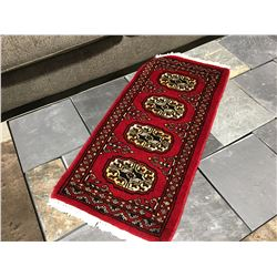 BOKHARA-WOOL 2'X1' SMALL PERSIAN RUG (RETAIL VALUE $120.00)