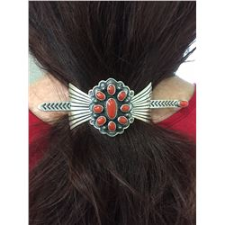Coral Hair Barrette