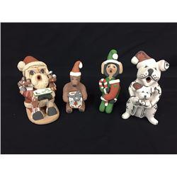 4 Christmas  Themed Pots - Jemez