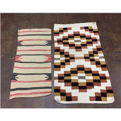 Pair of Vintage Navajo Textiles