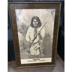 Large Geronimo Framed Print
