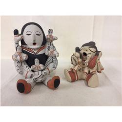 Pair of Pueblo Storyteller Pots