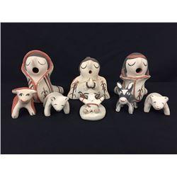 Mary Toya Pottery Nativity Scene