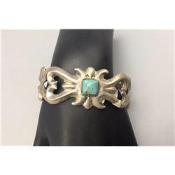Vintage Turquoise, Sandcast Bracelet
