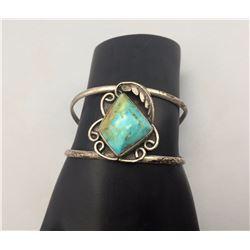 Vintage Turquoise Sterling Silver Bracelet