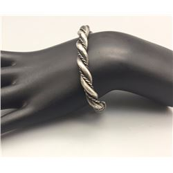 Sterling Silver Twisted Wire Bracelet