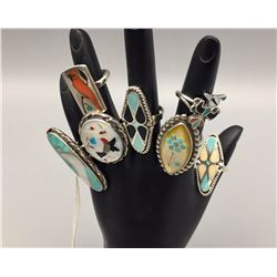 7 Multi-Stone Inlay Rings