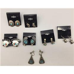 Lot of 7 Pairs of Earrings