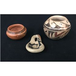 Group of 3 Small Hopi Pots