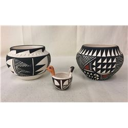 Group of 3 Small Acoma Pots