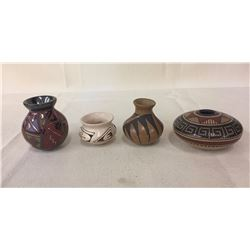 Group of 4 Mata Ortiz Pots