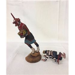 Mudhead and Clown Hopi Kachinas