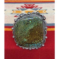 Spiderweb Turquoise Cuff Bracelet