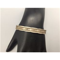 Chiseled Sterling Silver Bracelet - NORA