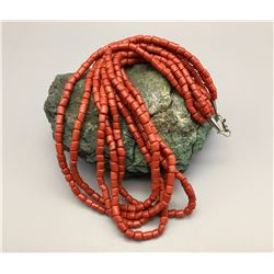 Vintage Multi-Strand Coral Style Necklace