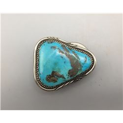Small Buckle with Large Turquoise.