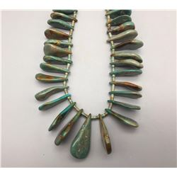 Green Turquoise Tab Necklace