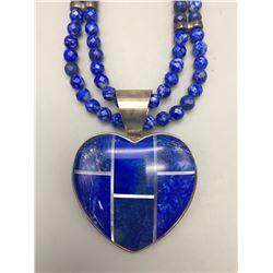Lapis Heart Necklace