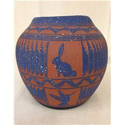 Navajo Etched Pot - Bennett