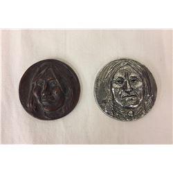 2 Joe Beeler/ Eddie Basha Medallions